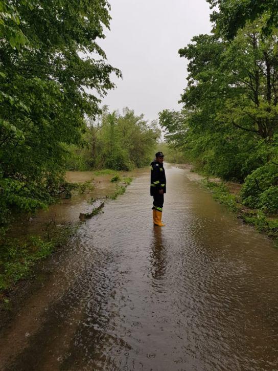 drum inundat Costeiu