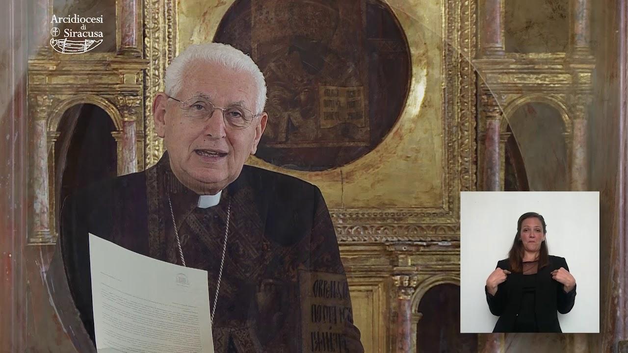 L'arcivescovo  Salvatore Pappalardo invia una lettera di congedo alla comunità diocesana