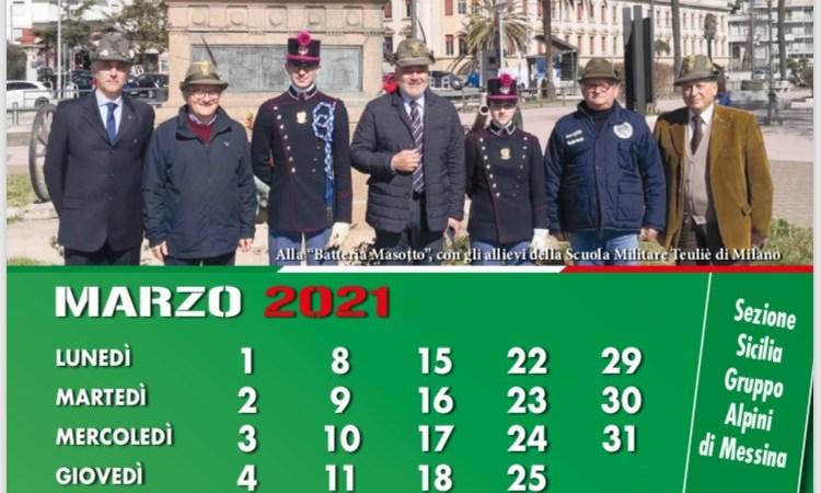 Messina, Il Calendario 2021 del Gruppo Alpini di Messina