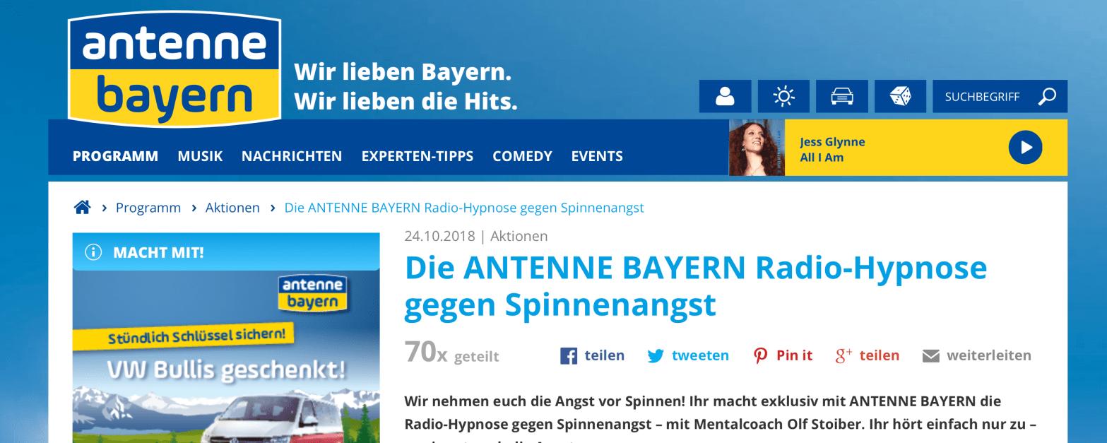Spinnenhypnose bei Antenne Bayern