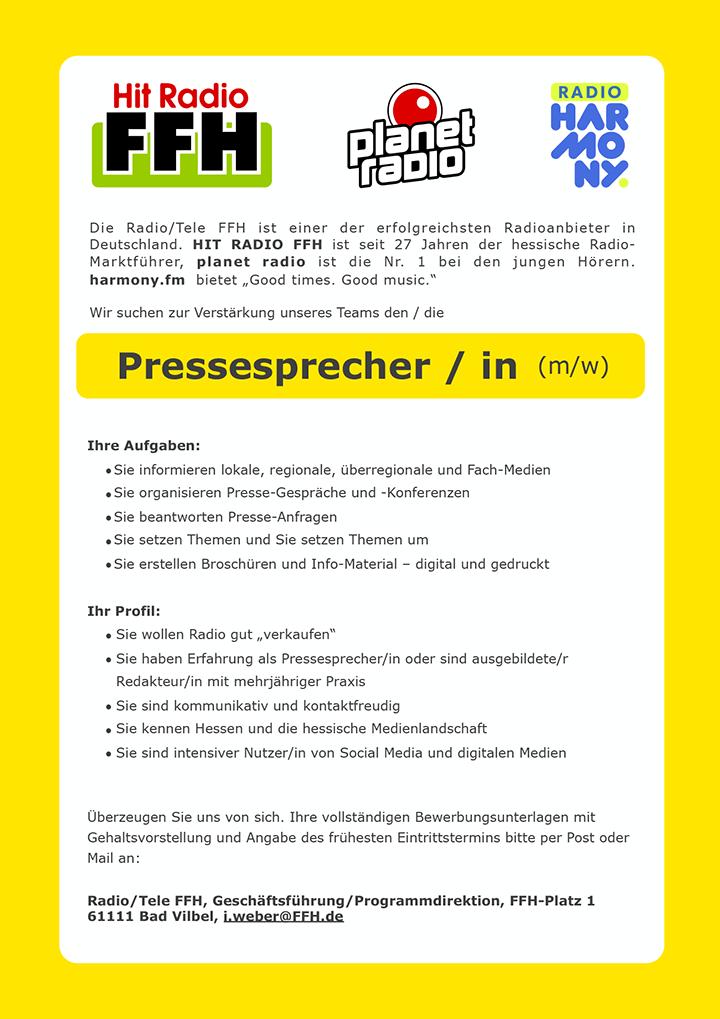 """Die Radio/Tele FFH ist einer der erfolgreichsten Radioanbieter in Deutschland. HIT RADIO FFH ist seit 27 Jahren der hessische Radio- Marktführer, planet radio ist die Nr. 1 bei den jungen Hörern. harmony.fm bietet """"Good times. Good music."""""""