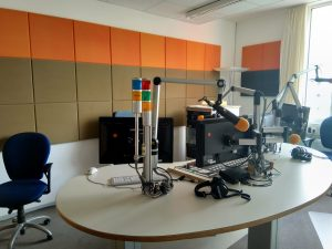 Besuch der radioWOCHE zusammen mit FMKompakt im letzten Jahr bei LOHRO in Rostock