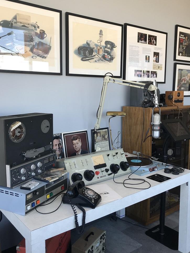 A replica of a 1960s studio setup.