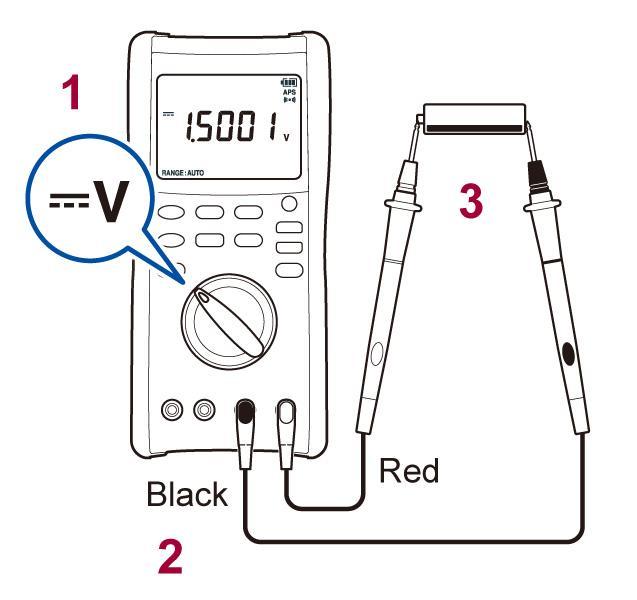 cara-menggunakan-digital-multimeter-dt4282-dc-voltage