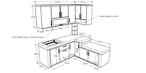 Ukuran Kitchen Set Standar Minimalis Jasa Bikin Kitchen Set Murah