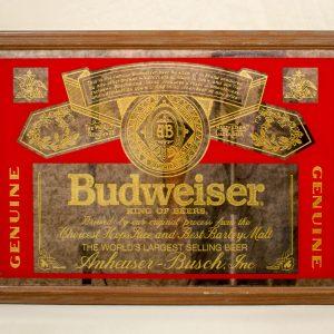 Beeco Mfg. Budweiser Bar Mirror