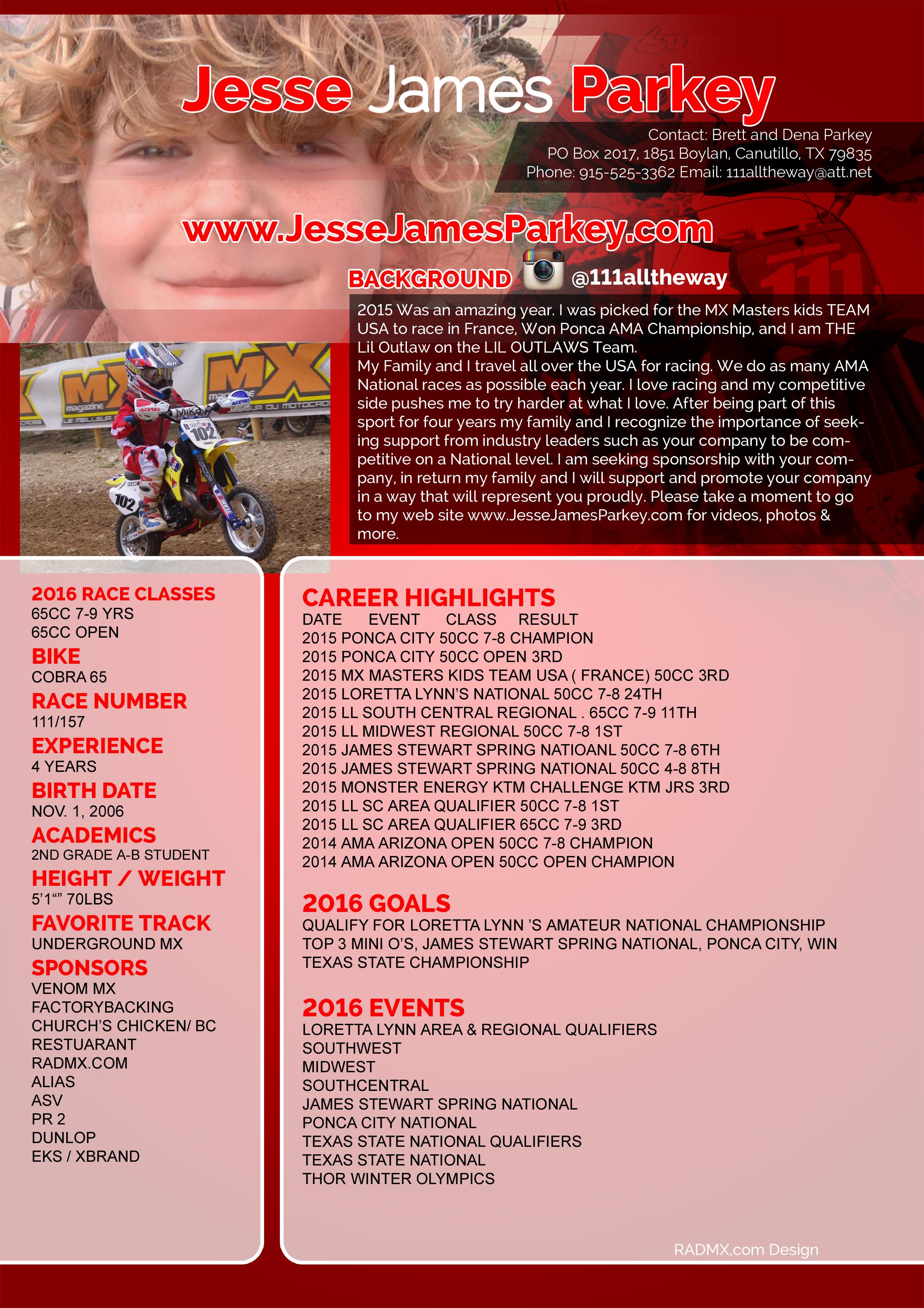 Tucker Larrieu Motocross Resume Youtube Red Grunge