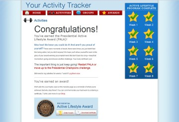 Presidential Active Lifestyle Award - done!