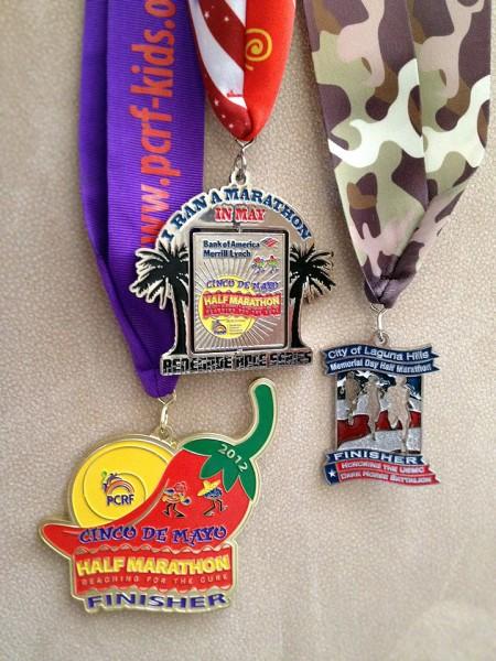 Marathon in May medals 2012