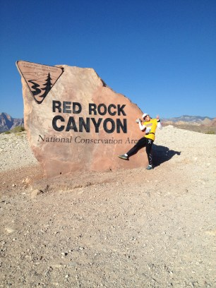 By Red Rock!