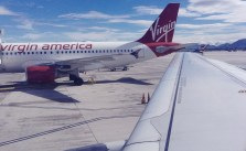 Delayed 1hr, but finally Surf City-bound via LA #virginamerica #myvxexperience #running