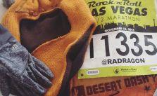 Chance of rain at race tonight? Gloves, @desertdashtrailraces buff & Ewok hat :) #stripatnight #RnRLV #instarunners [instagram]