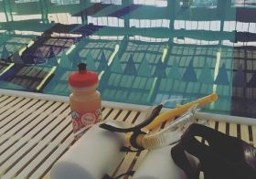 Today's pool workout was brought to you by Lemon Tea nuun & the letter G. As in I drank more pool water = now gassy. XD #tmi #training #triathlon #nuunlife [instagram]