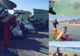 Lovely morning for an #ows at Lake Mead. #nuunlife #swimLV #paragon [instagram]