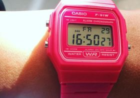 What time is it? Oh still working lol. I found my watch for @iteachlv 80's party tomorroz #fbf #casiodigital [instagram]
