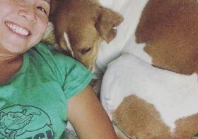 """""""ZOMG this girl won't get off my bed"""" — Ella Bella the rescue hound.  Um, move yer arse Ella, Auntie needs her beauty rest! #dogsofinstagram #hound #dogaunt [instagram]"""