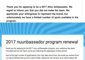 When one door closes, another one opens… didn't make #altrarunning ambassador for 2017, but sent my application for #nuunbassador2017 #nuunlife #nuunlove #feelinghopeful [instagram]