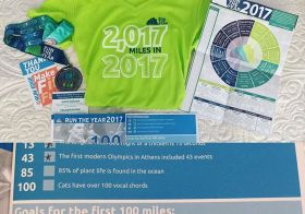 Finally got to fill out my #runtheyear2017 booklet! 46mi thus far (not incl. mileage later). Goal for Jan: Do eet! lol #rty2017 #racewithbase #nuunlife #running #ultratraining [instagram]