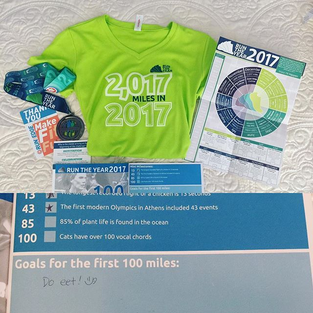 Finally Got To Fill Out My Runtheyear2017 Booklet 46mi Thus Far