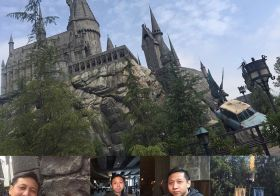 Belated happy birfday to this young man! His first visit to Hogsmead. Big sis [instagram]