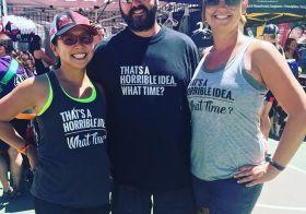 I think we just found our team shirt! lol #racewithbase #triathlon #im703cda @baseperformance #tees [instagram]