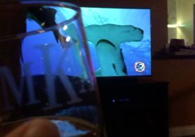 Macallan 17 with my bro & sis… whilst watching Phelps vs Shark lol [instagram]