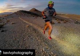 Monday night's new trails & city lights. Thanks for the photo @kevlvphotography #trailrunningvegas [instagram]