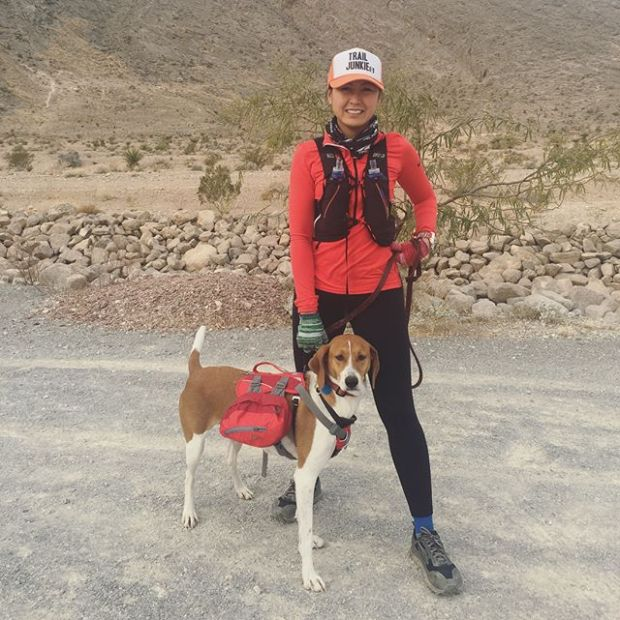 Boxing Day trail run at Cliff Shadows with sisypoo & her furgirl Ella. We went on parts of Toque, Big Horn Spur & Middle Earth. #trailrunningvegas #ultrarunners