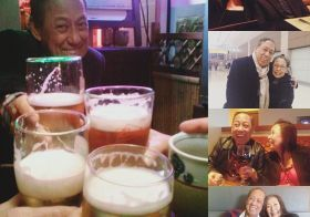 As you get older, birfday celebrations with parental units get rarer. I'm grateful for these years that I'm able to have a drink with & celebrate with my dad. Happy birfday pops! [instagram]