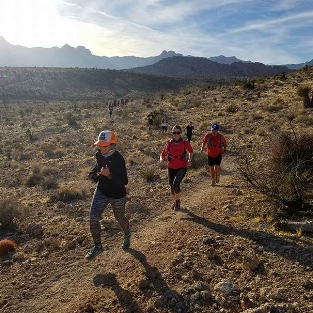 I can neither confirm nor deny leading a group of random strangers on some trails yesterday.  PC: @georgeokinaka #trailrunningvegas #trailjunkie #plsdontfineme