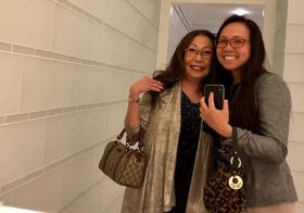 It was Mother's Day yesterday (in UK lol) so Mum & I took a mirror selfie during intermission. #motheringsunday #notUSmothersday [instagram]