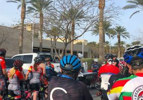 This was my first time riding with #LifetimeFitness Summerlin Cycling group! Then, I made a beeline for the back and rode w/ Jen B of @lasvegas.cyclery 🏽 #centurytraining #hutchsbicyclegarage [instagram]