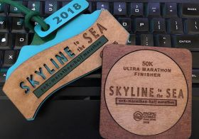 #medalMonday on another ultra. Skyline to the Sea did not disappoint with majestic views, amazing volunteers (thanks sis @runtricpa), fun climbs, and angry wasps! 🤣 Time well spent with Vegas Trail Junkies along with new friends made on the trail. Yes, wasp stings and bloat and all 🤣 [instagram]