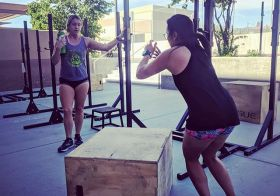 Today's WOD was called Double Trouble. The box jump overs were the most fun.  #ouchies  @kirstenonthego [instagram]