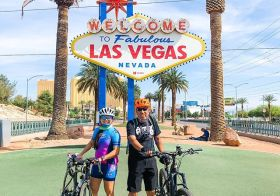 My pops and I got to ride on the Strip this morning. There were more bikes than vehicles on the road which made for a nice cruise down Las Vegas Blvd. There were families on their cruise bikes, even saw one family with a little bike trailer with their little one, people on city bikes, and some runners, too. Obvs more photos and videos to come 🤣#baseperformance #cycling #mtb #emtb #lasvegaslife #welcometolasvegassign #teamULTRA #michelobultra @michelobultra [instagram]