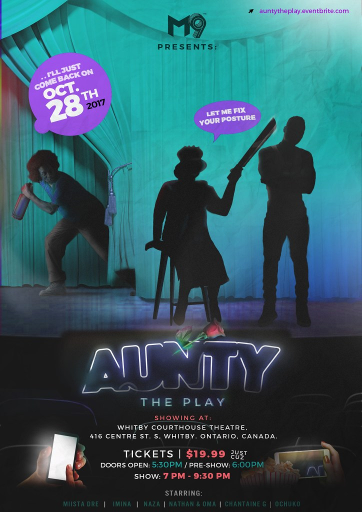 Aunty Poster The Play Oct A-1