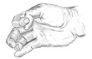 palm hand sketch
