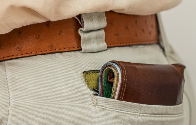 wallet inside pocket