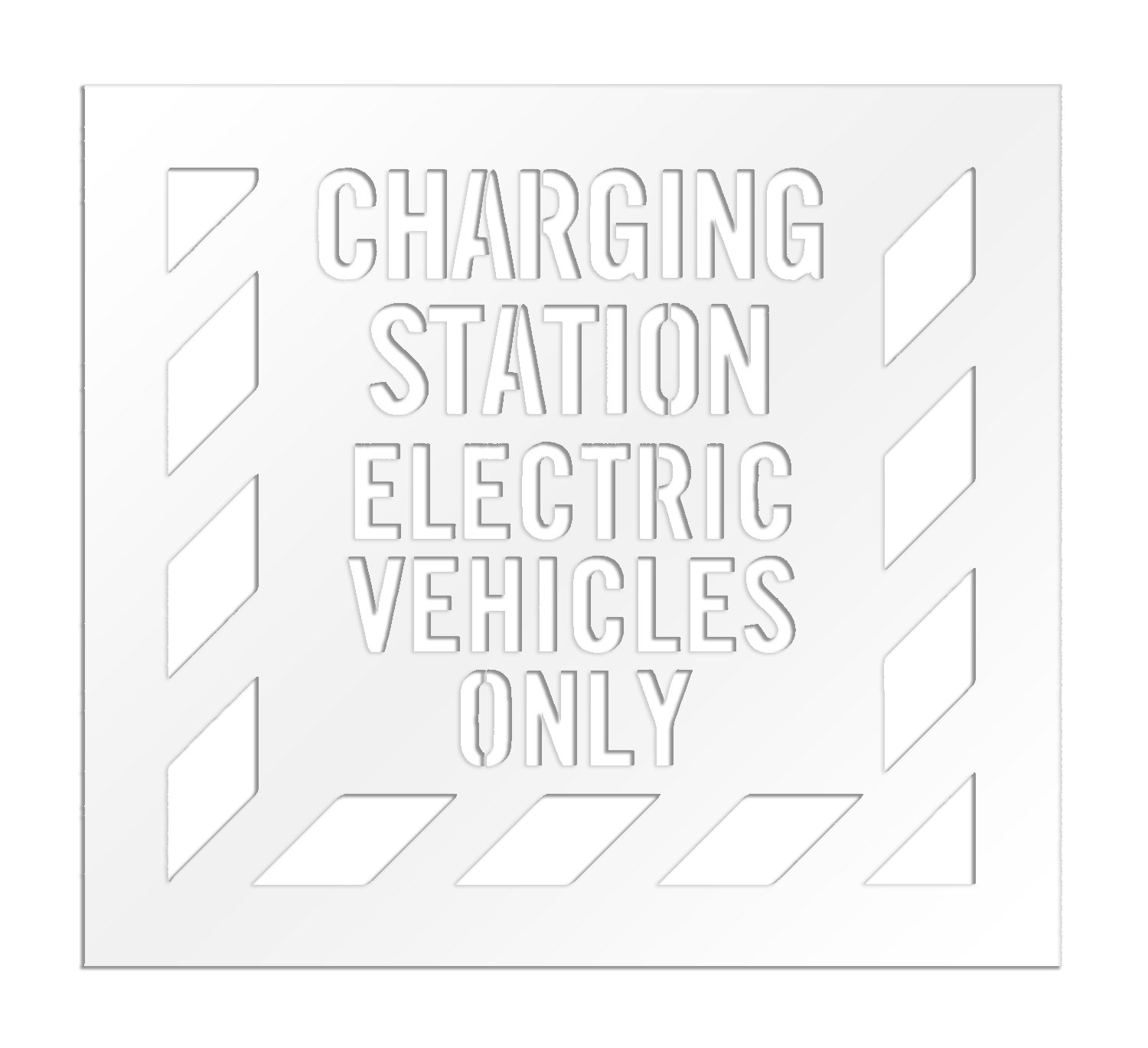 Rae S 4 Inch Charging Station Electric Vehicles Only