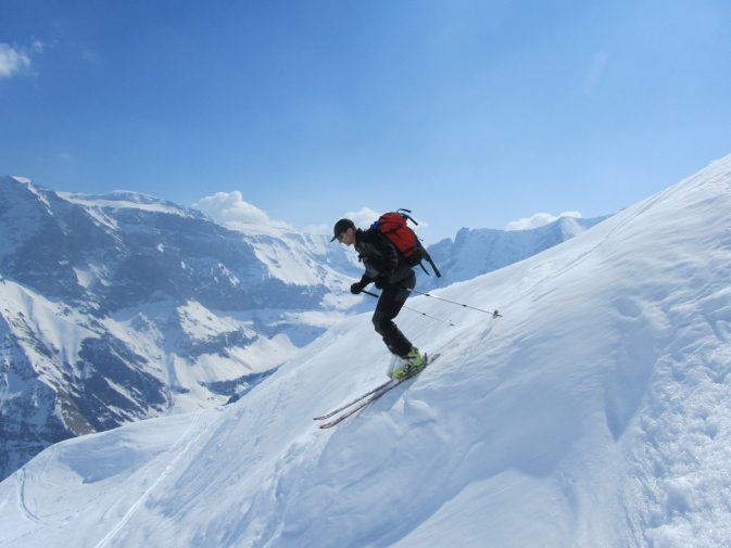 Ski downhill
