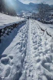 Winterlicher Wanderweg