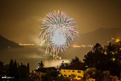 Feuerwerk in Brissago