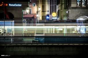 Vorbeifahrendes Tram