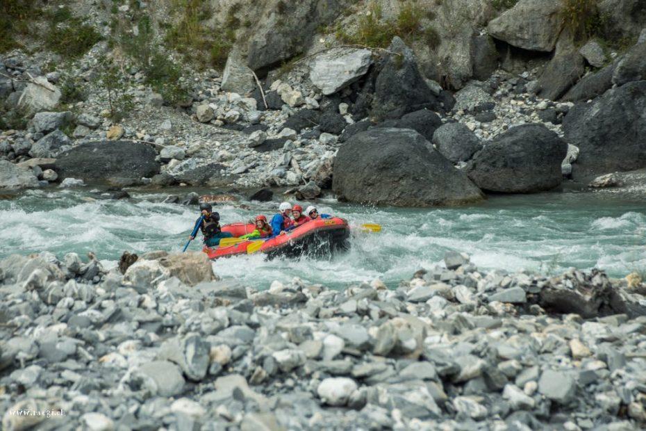 River Rafting durch die Rheinschlucht