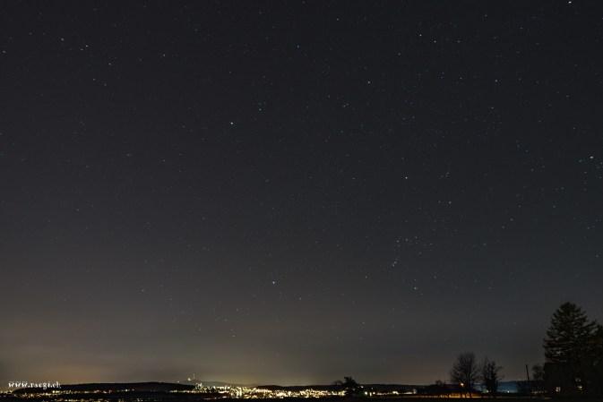 Blick von Rümlang in Richtung Zürich