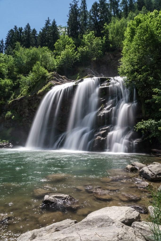 Wasserfall Piomogna in Faido