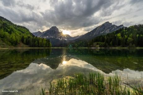 Sonnenuntergang am Obersee