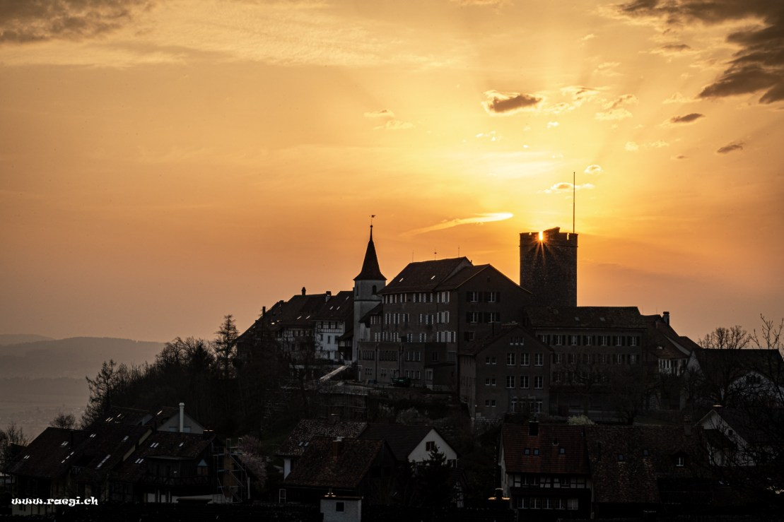 Sonnenaufgang Schloss Regensberg