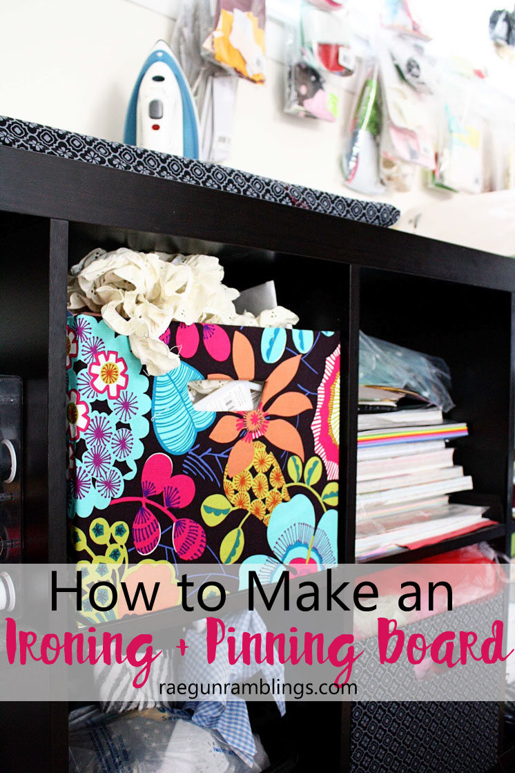 Great tool for sewing crafters. A DIY pinning and ironing board that's easily portable.