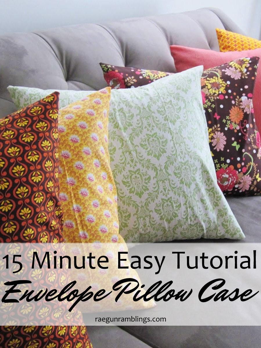 Tutorial Quick Envelope Pillow Case  Rae Gun Ramblings